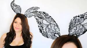 diy lace animal ears youtube
