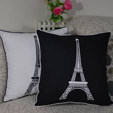 buy home decor items online home decoration high quality paris eiffel tower throw cushion