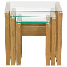 buy nest of tables cascade 3 pieces nesting tables glass tops