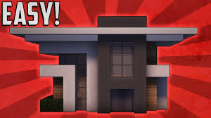 minecraft how to build a small modern house tutorial 7 youtube