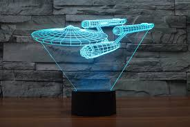 star trek bedroom creative 3d led 7 color star trek warships changing visual