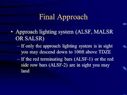 Approach Lighting System Approach Charts And Procedures Ppt Online Download