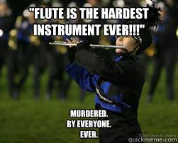 Flute Memes - flute is the hardest instrument ever murdered by everyone