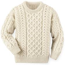 s wool sweaters children s aran crew neck sweater crafted of 100