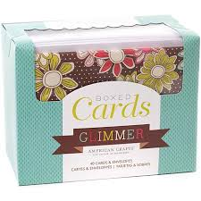 boxed cards glimmer 6907238 hsn