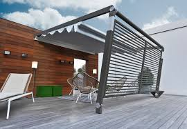 stylish modern outdoor living decoration design with grey wood