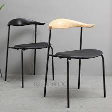 chaise loft minimaliste moderne loft design style solide en bois et en métal