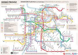 Rtd Map Prague Metro And Tram Urban Transit Map Has Only 3 Metro Lines