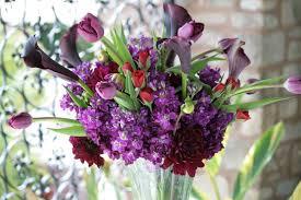 Dark Purple Vase Brown Bunny Flowers May 28 2011 Jennifer And Jacob U0027s Wedding