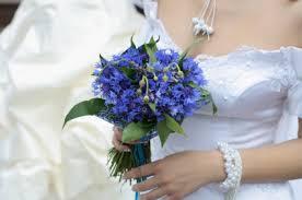 Blue Wedding Bouquets White And Blue Bridal Bouquets Cornflowers Bouquets