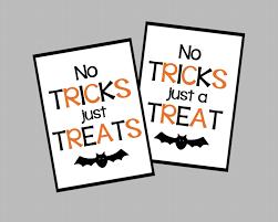 no tricks just treats halloween tags no tricks just a treat