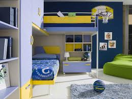 navy royal blue kids bedroom paint color in a room with bunkbed