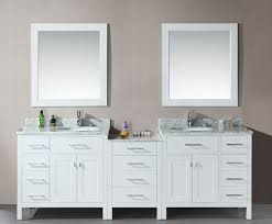 modern double sink bathroom vanity two mirror panels double white