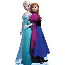 party city elsa halloween costume buy disney frozen elsa and anna standup 6 u0027 tall