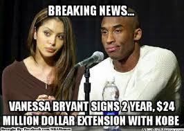 Kobe Bryant Memes - nba memes on twitter kobe bryant vs vanessa bryant nba contract