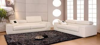 canapes et fauteuils canapé en cuir italien 2 places deux fauteuils