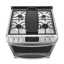 lg 6 3 cu ft slide in single oven gas range stainless steel