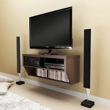 furniture wall mounted flat screen tv with shelf hanging floating