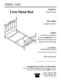 How To Assemble A Bed Frame Furniture Manuals Guides Mainstays Metal Bed On Page