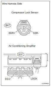 toyota rav4 service manual compressor lock sensor circuit