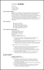 Service Advisor Resume Sample by Free Entry Level Academic Advisor Resume Templates Resumenow