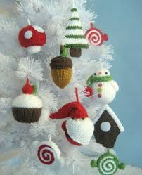 decor knit tree ornament craft ideas