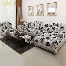Modern Sofa Slipcovers Romorus Modern Sofa Covers White And Black Linen Cotton