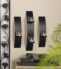Glass Candle Wall Sconces Contemporary Wall Sconce Trio