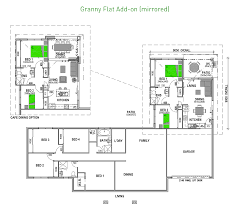 sumptuous design inspiration house plans with granny flat attached