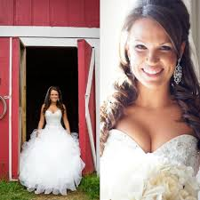 counrty wedding hairstyles for 2015 2015 bling sweetheart ball gown organza country western style