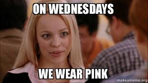 Meme Pink - on wednesdays we wear pink make a meme