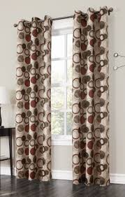 Dining Room Curtain Panels The Jupiter Grommet Curtains Has A Large Scaled Multi Color Modern