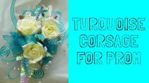 turquoise corsage turquoise corsage for prom flower corsages with orchids