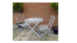 Garden Bistro Table Antique Grey Vintage Garden Bistro Table And 2 Chairs Homegenies