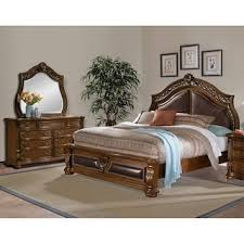 American Signature Furniture Bedroom Sets by Morocco 6 Piece King Bedroom Set Pecan American Signature