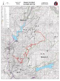 Aspen Map Cfn California Fire News Cal Fire News Ca Snf Aspen Fire
