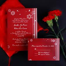 Stunning Hindu Wedding Invitation Wordings Cheap Snowflake Red Wedding Invites Ewi005 As Low As 0 94