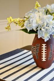 Ceramic Football Vase Diy Football Vase Centerpieces Wedding And Rehearsal Dinners