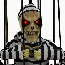 halloween haunted house motion sensor light up talking skeleton