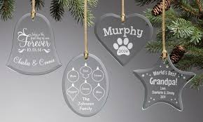 personalized glass ornaments personalized planet groupon