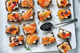 berry canapes eat with berry smoked salmon canapes salmon