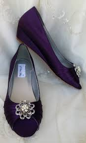 wedding shoes low wedges purple wedge wedding shoes eggplant bridal shoes with and