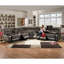 holt sectional with recliners drop down table power back massage