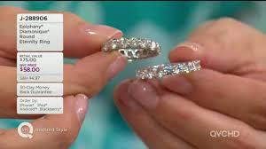 qvc wedding bands epiphany diamonique eternity ring page 1 qvc