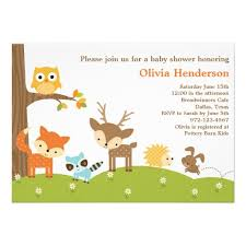 woodland baby shower invitations woodland animal baby shower invitation superdazzle custom