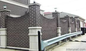 Wall Fencing Designs - Brick wall fence designs