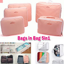 Jual Beg termurah bags in bag travel organizer 5 in 1 pouch tas travel isi 5