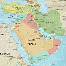 negev desert map middle east