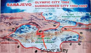 siege de sarajevo sarajevo olympics map with sniper alley annotated serbia and