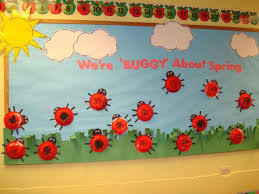 Backyards spring themes for classroom door decorations rain ideas
